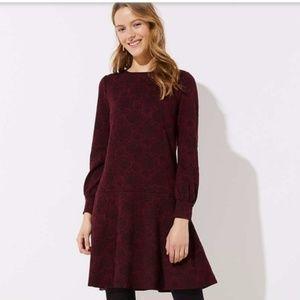 Stunning winter dress from Loft with button detail